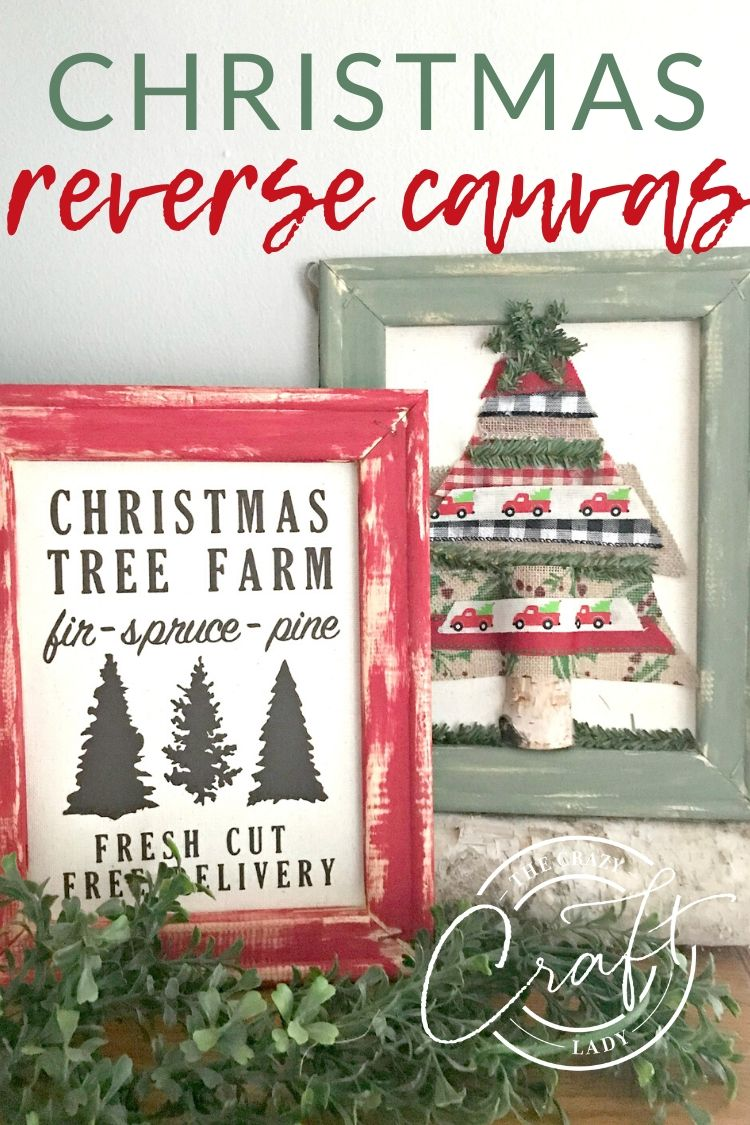 Use a stretched canvas to make a unique piece of framed DIY wall decor, with this Christmas reverse canvas tutorial. Make a custom piece of Christmas wall decor in no time.
