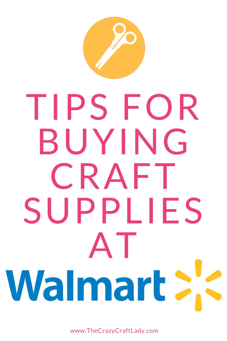 Let's go shopping for Walmart craft supplies. I'm sharing what's in my craft stash right now, along with my money-saving tips when shopping for your next craft project.