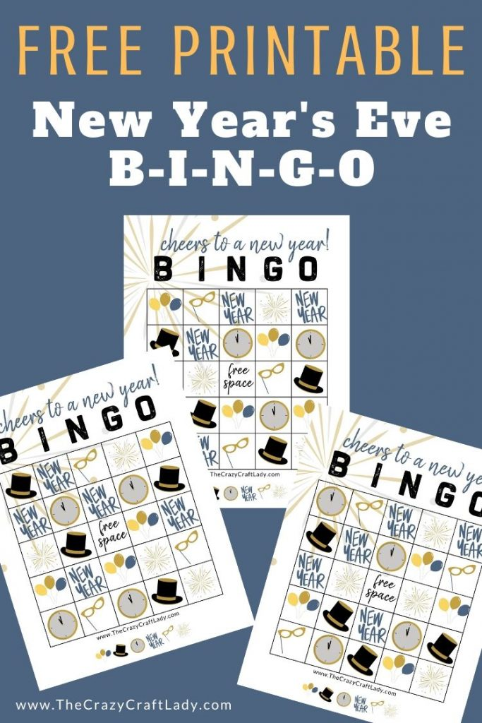 Grab these FREE printables to help ring in the new year. Print off these 8 different New Year's Eve BINGO sheets to use at your NYE party!
