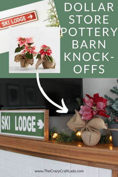 Grab a few dollar store and craft store supplies to whip up these knock off Pottery Barn Christmas decor pieces. Fill your Christmas mantel for a fraction of the price.
