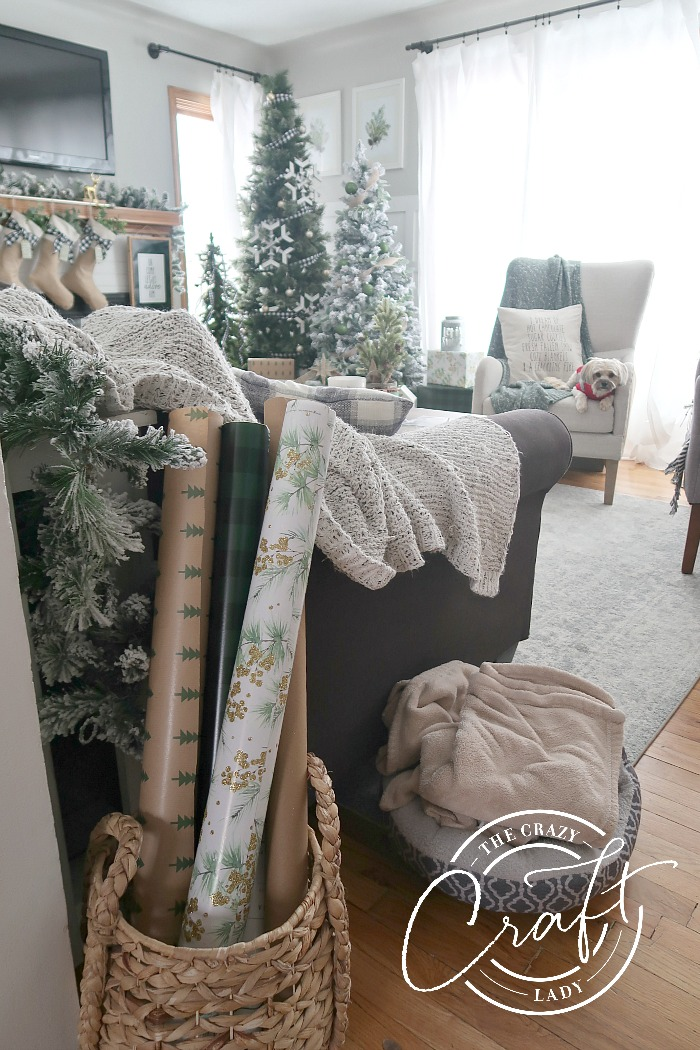 Neutral Christmas Decor - Living Room tour with three trees