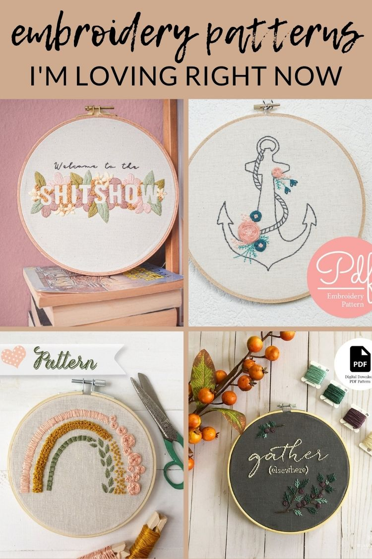 embroidery patterns im loving right now