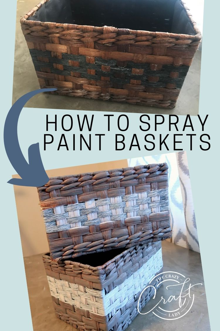 Grab a few thrift store wicker baskets and some spray paint to totally transform the look and make these decorative storage spray paint wicker baskets.