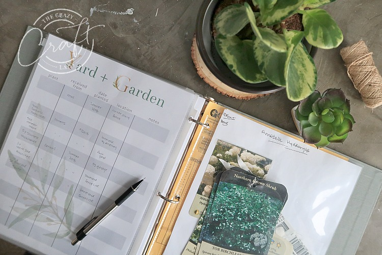Yard and Garden Printable Tracker Sheet