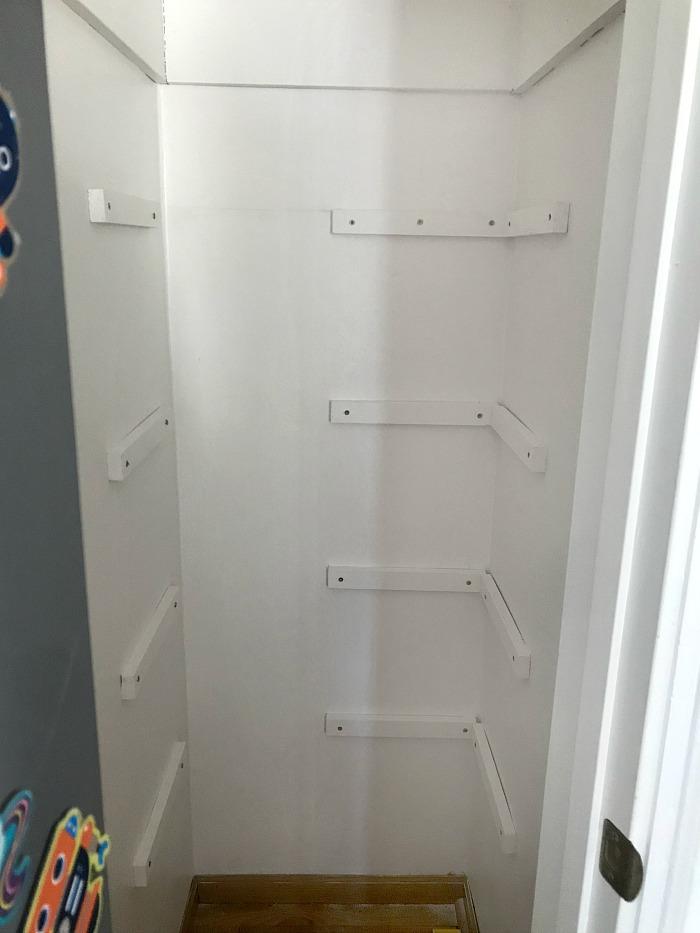 adding cleats for DIY wooden closet shelves