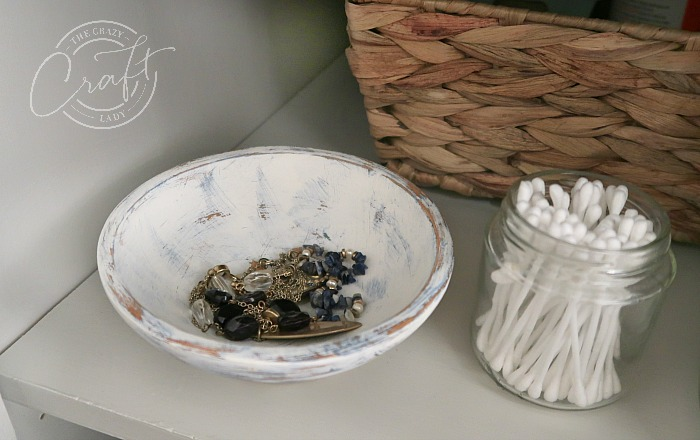 small painted wooden bowl for jewelry