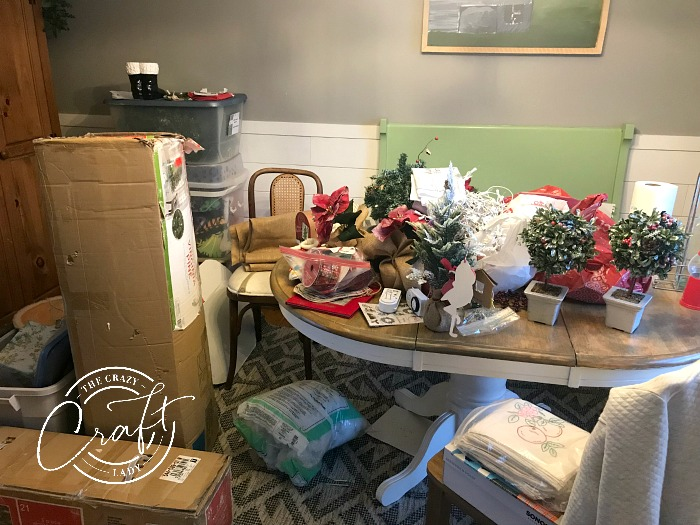 How to sort, prioritize, and minimize seasonal decorations - lay everything out in one spot before putting into storage until next season.
