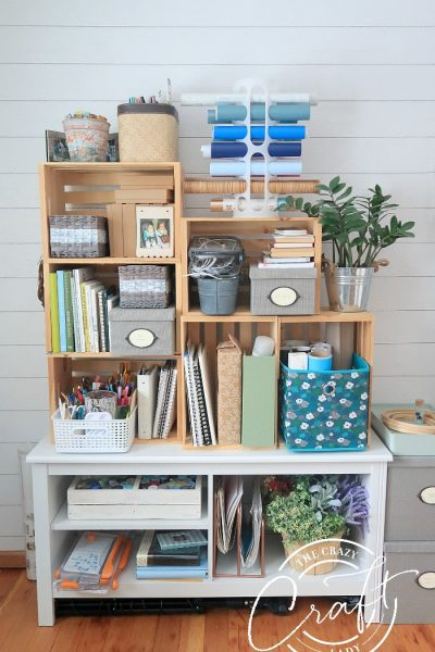 wooden craft craft room storage