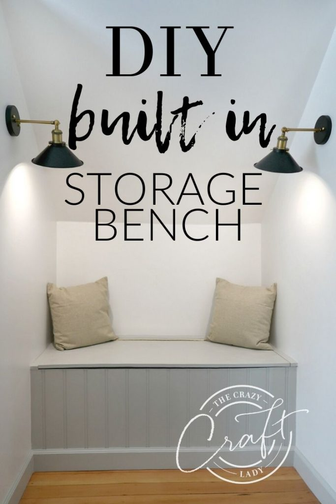 Follow this easy, budget-friendly tutorial to make a built-in storage bench - How to build a dormer window storage bench with a piano hinge.