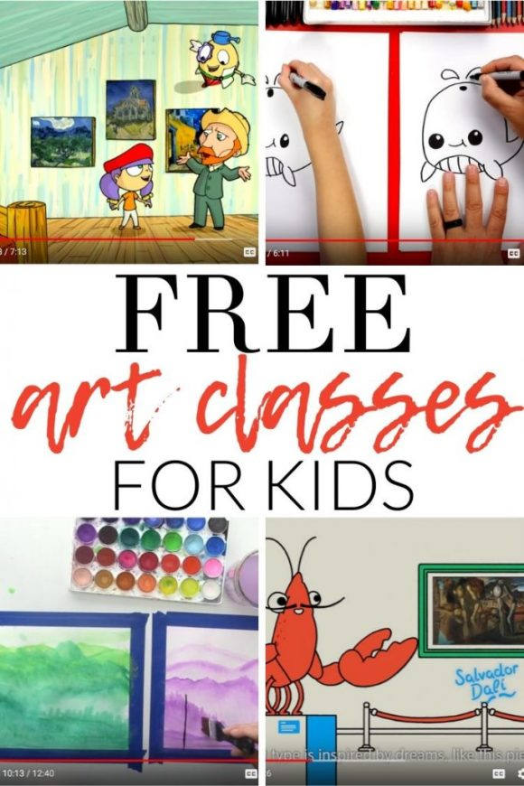 FREE Online Art Classes for Kids - The Crazy Craft Lady