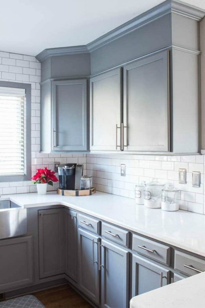 Add Height to Your Cabinets with MDF and Moulding - how to raise upper cabinets to the ceiling and enclose the open space