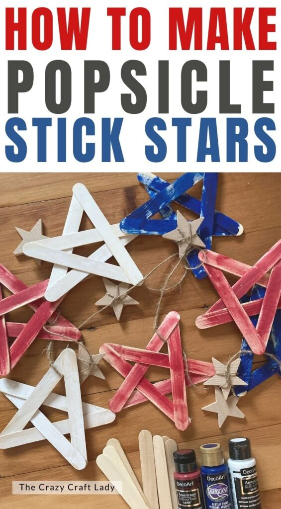 how to make popsicle stick stars