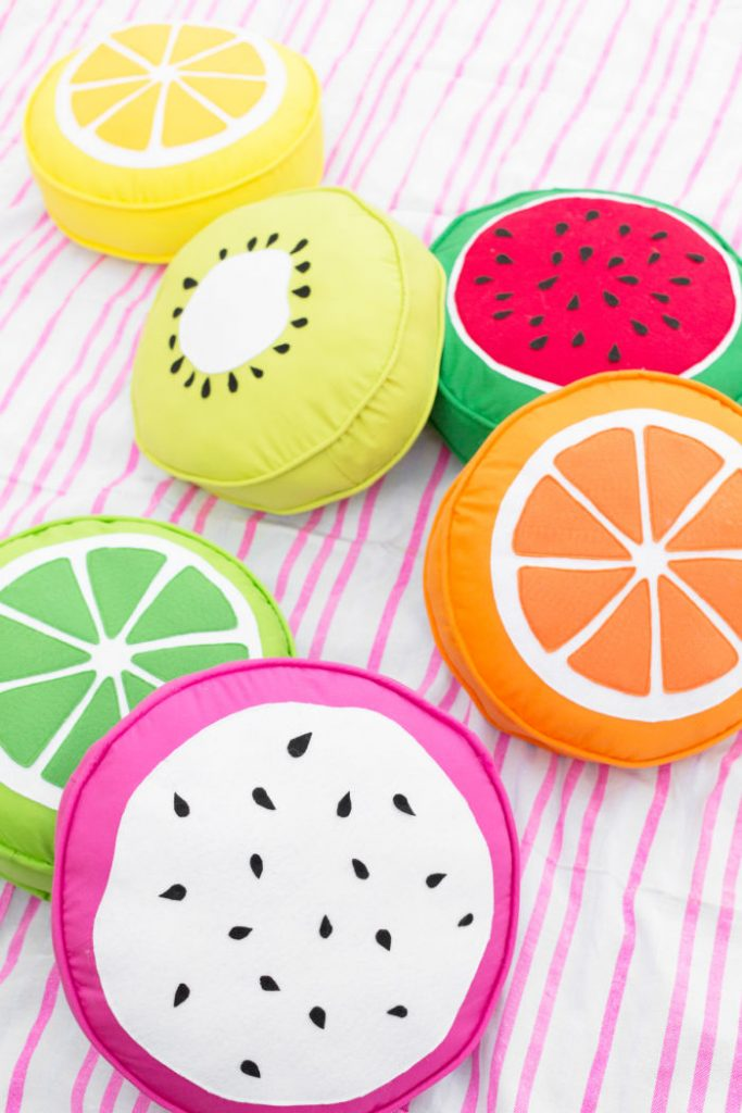 DIY Fruit Pillows