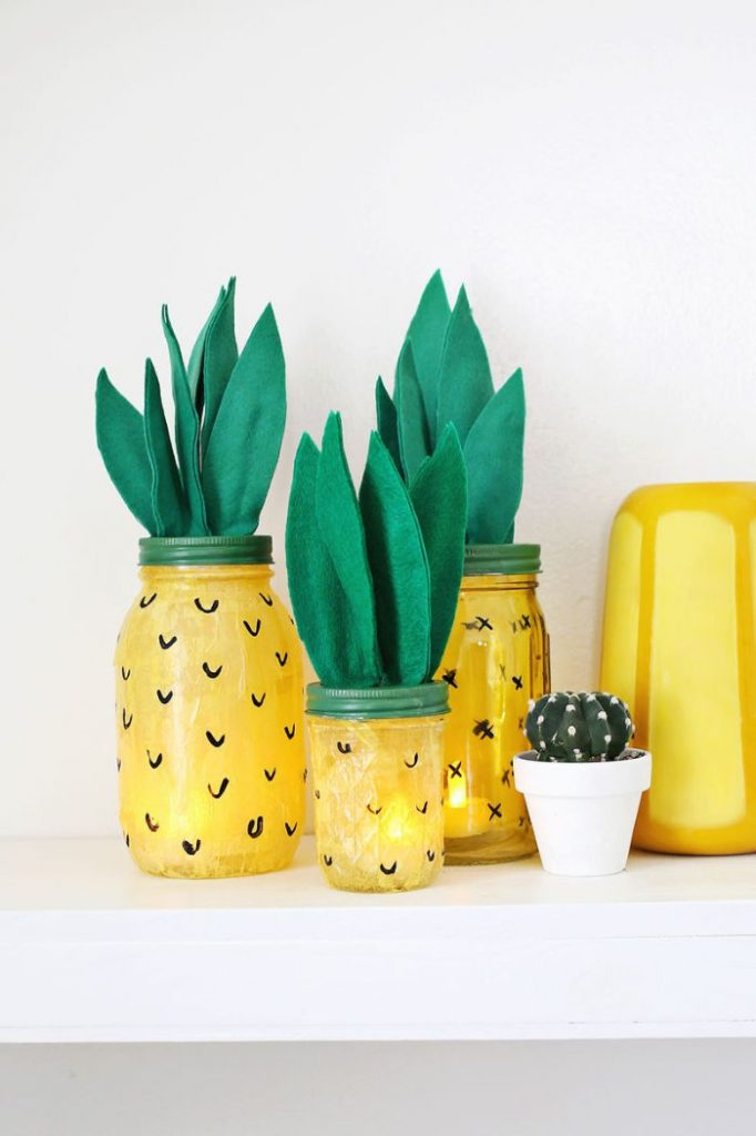 DIY Pineapple Night Lights