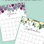 2021 Free Printable Floral Wall Calendar