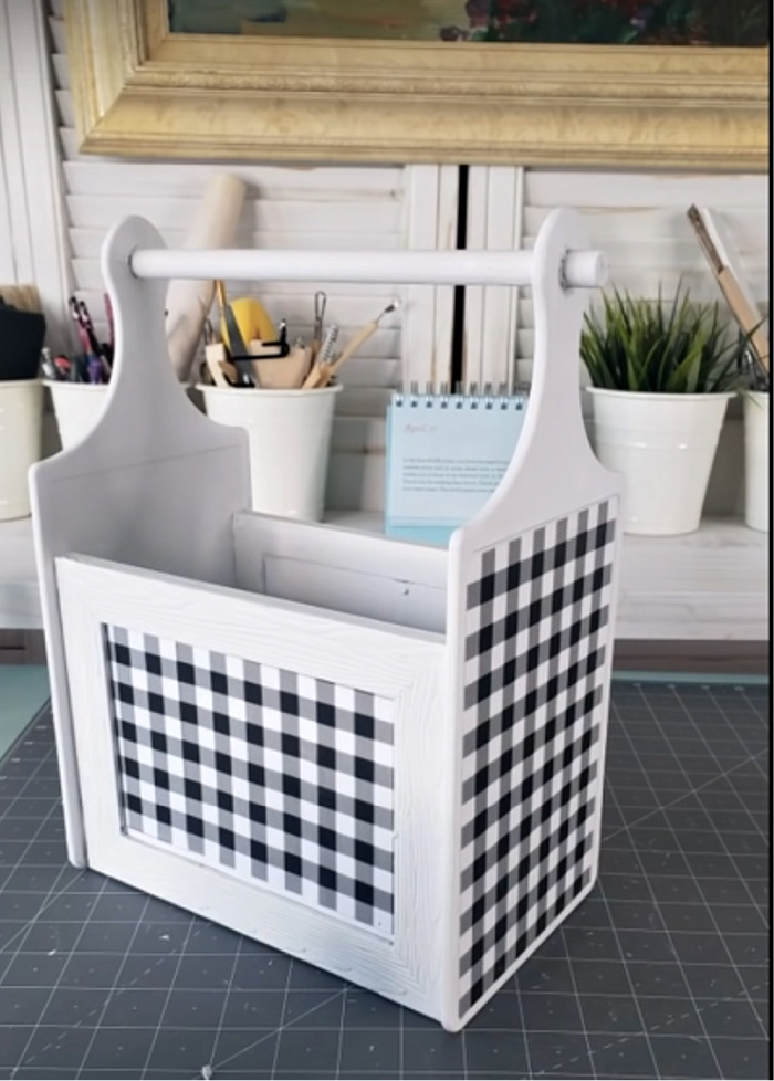 DIY Caddy from Dollar Store Cutting Boards and Picture Frames