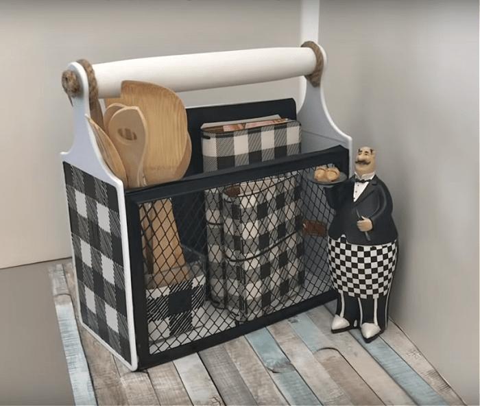 DIY Caddy from Dollar Store Cutting Boards