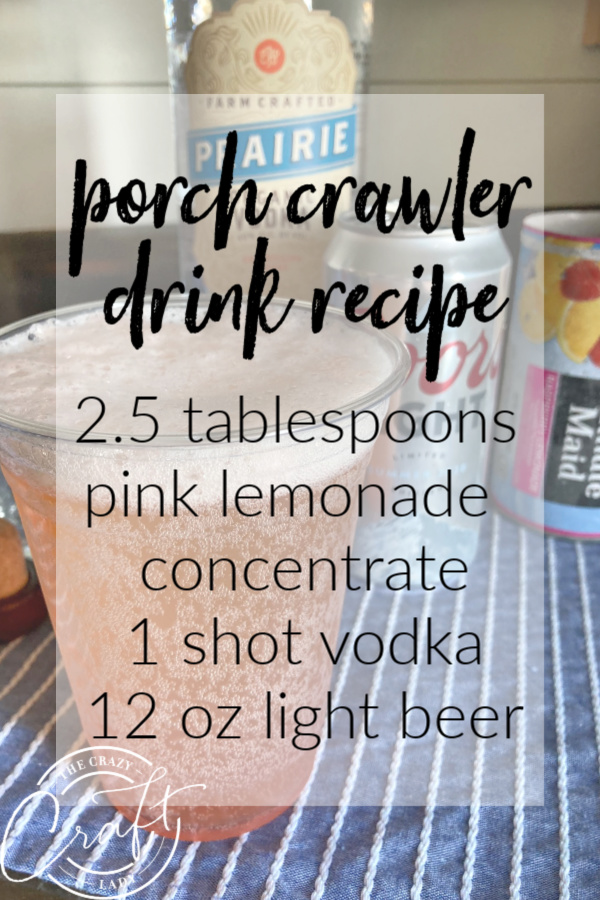 Recipe for a light and refreshing summer cocktail that packs a serious punch! Made with 3 simple ingredients: vodka, pink lemonade concentrate, and light beer.