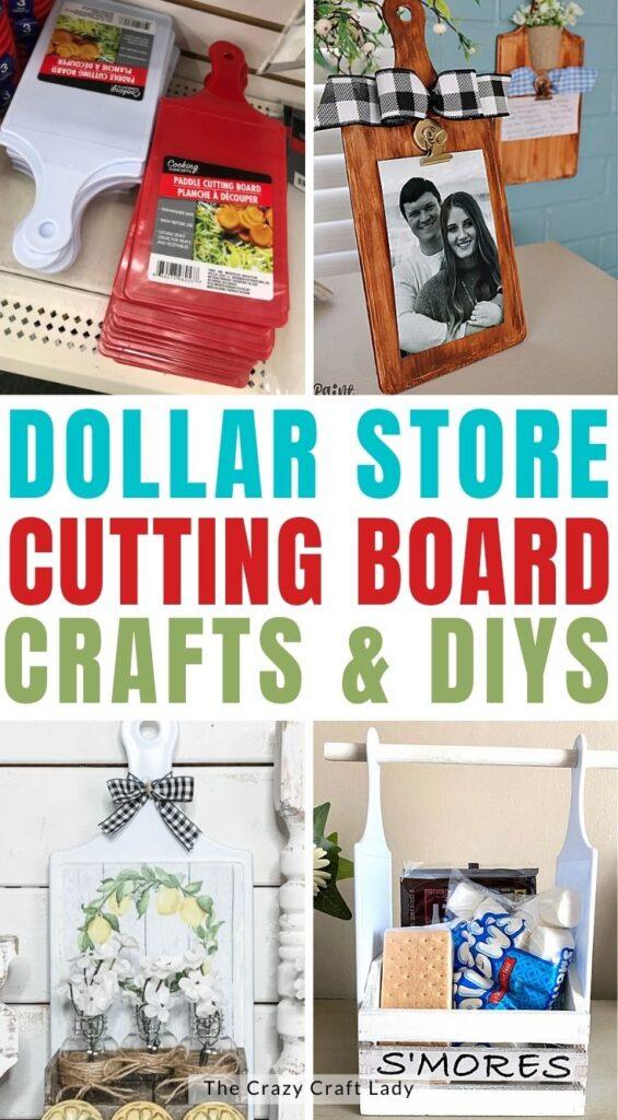 dollar store cutting board crafts and diys