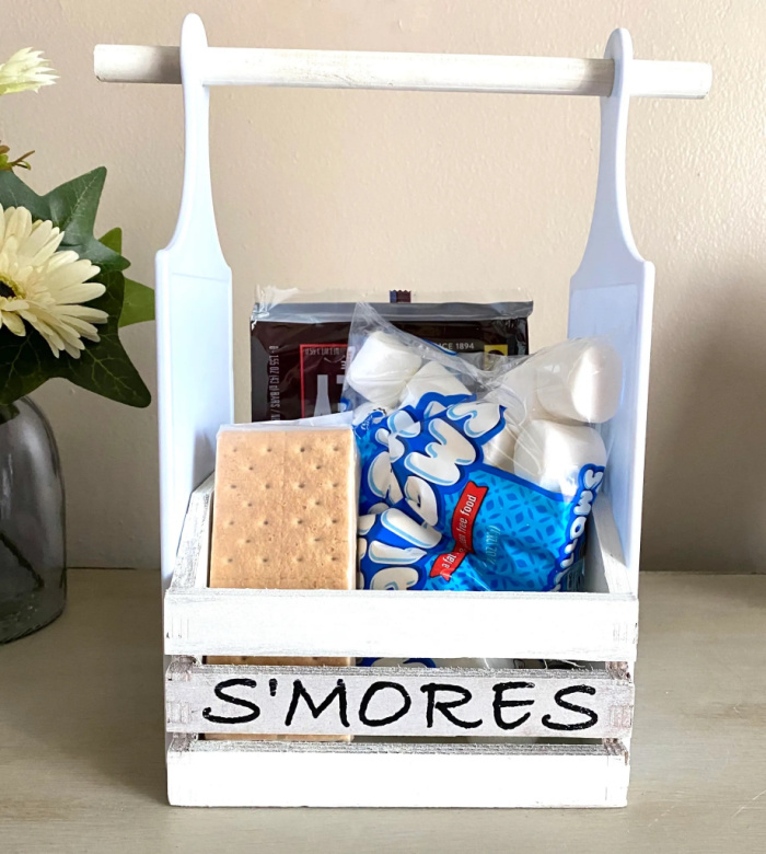 s'mores tote dollar store craft