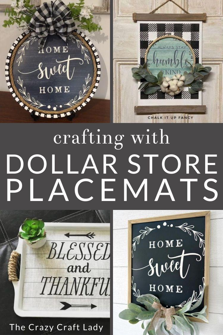 Genius Dollar Store Placemats   20 Crafts and DIY Decor Ideas