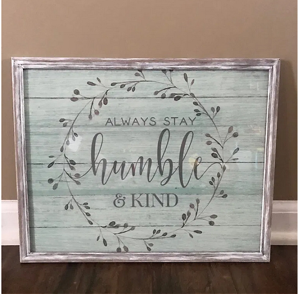 Framed Dollar Tree Placemat