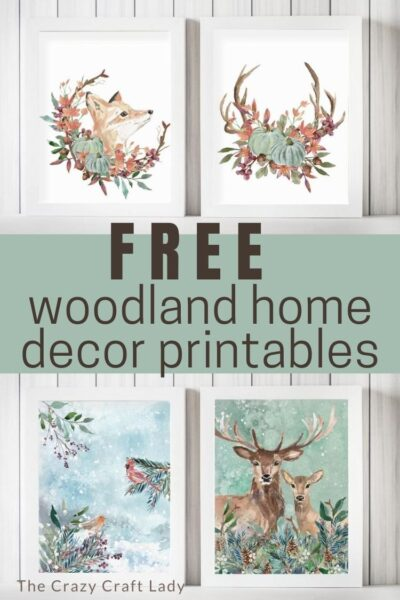 Cozy up your home with these FREE watercolor woodland printables for fall and winter Use these prints to decorate your home for the colder seasons.