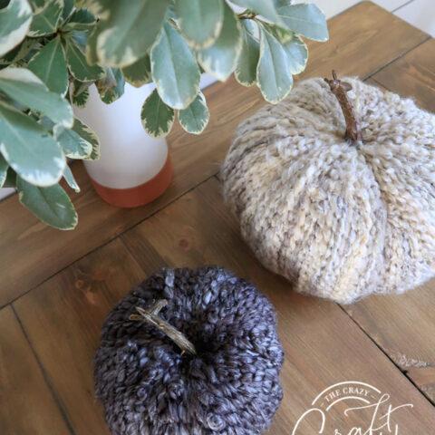 DIY Cozy Fall Yarn Pumpkins