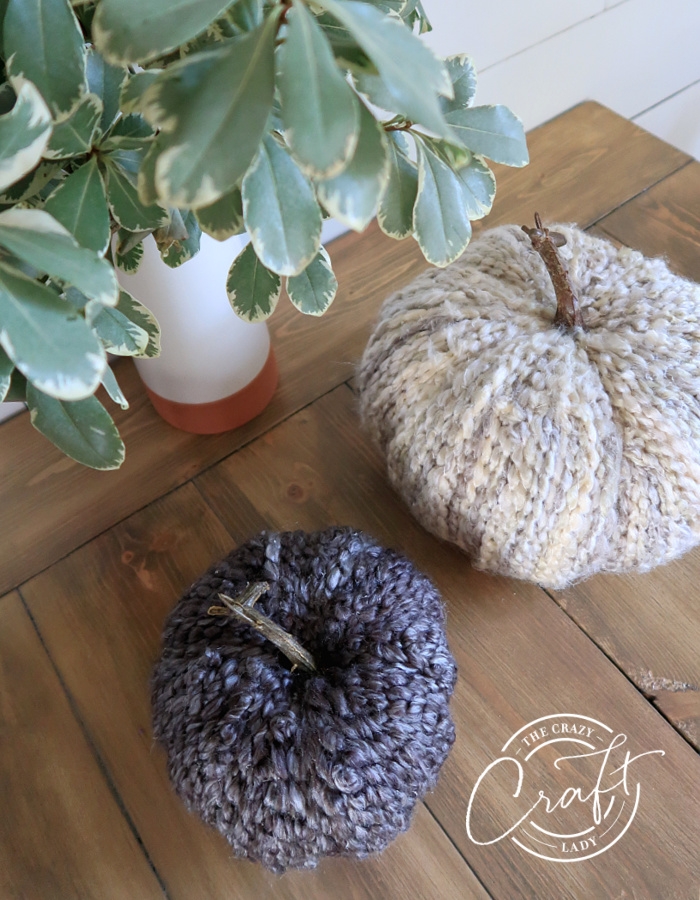 DIY Fall Yarn-Wrapped Cozy Pumpkins