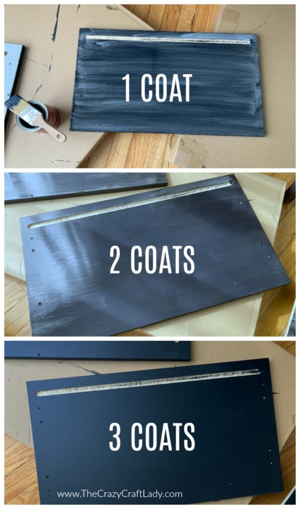 How To Paint Laminate Furniture With No Prep The Crazy Craft Lady