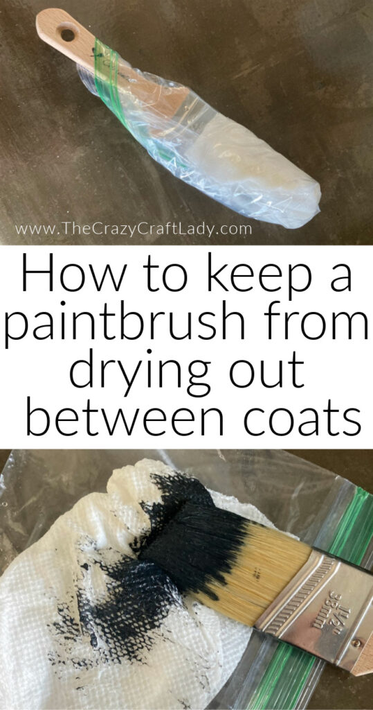 How to keep a paintbrush from drying out between coats