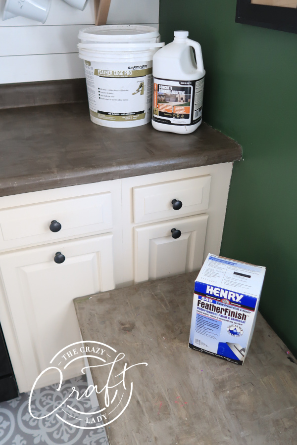 comparing types of skim coat concrete counters - Feather Edge Pro or Henry Feather Finish