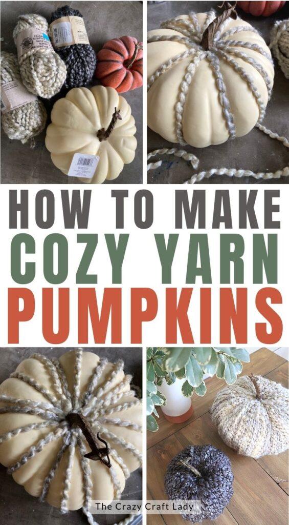 how to make cozy yarn pumpkin