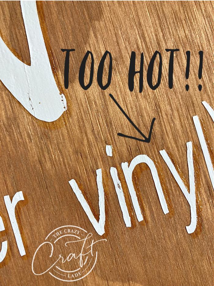 mistakes to avoid when ironing vinyl onto wood