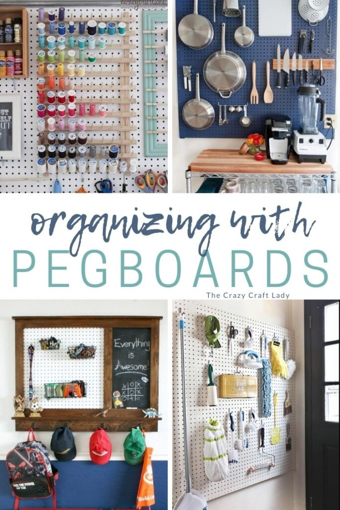 Organizing with Pegboards: Pegboards have infinitely creative uses well beyond your garage. Solve your organizing problems with these 12 genius pegboard organizing ideas for all areas of your house.
