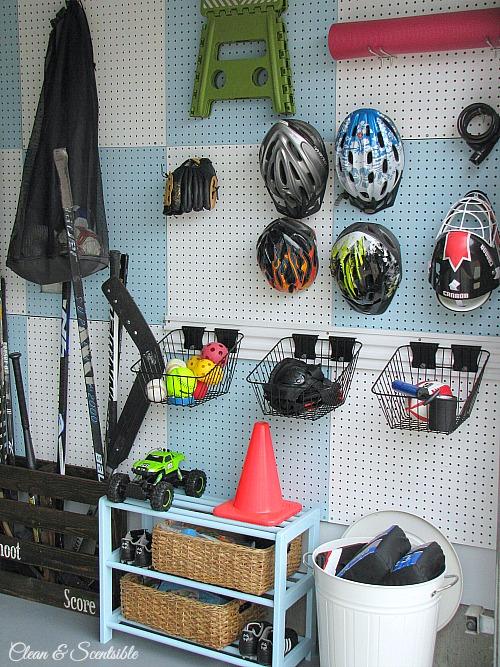 garage pegboard organized wall