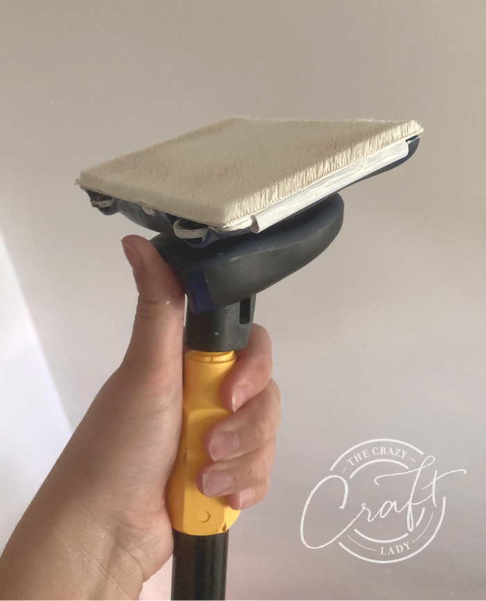 paint applied to a pad edger