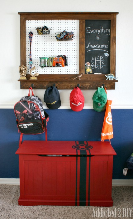 pegboard family command center