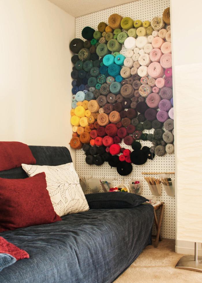 pegboard yarn wall