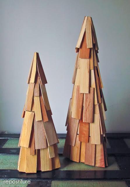 wood shim evergreen trees