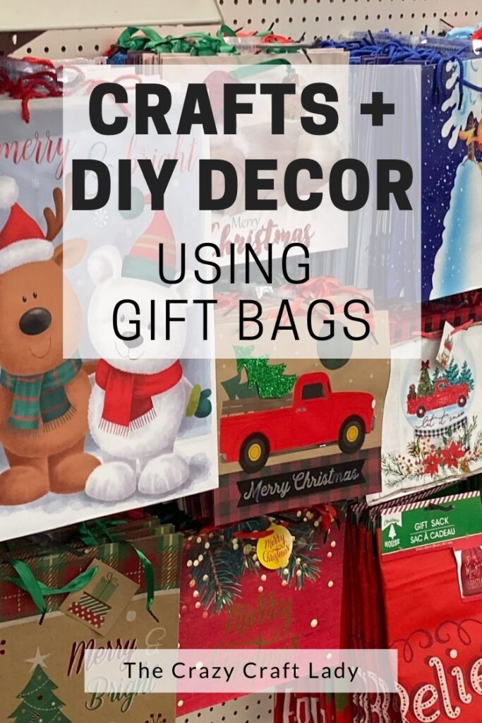 Crafts and DIY Decor Using Gift Bags