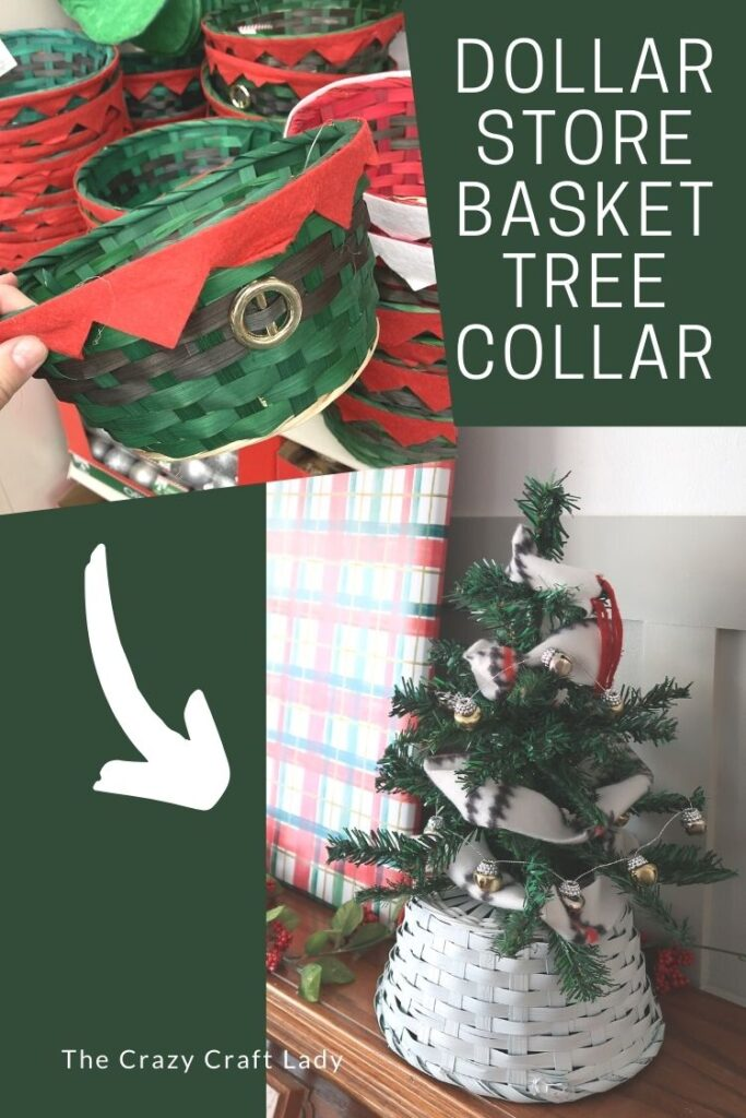 Dollar Store Basket Tree Collar