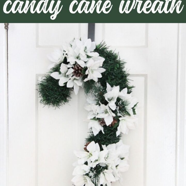 Dollar Store Candy Cane Wreath