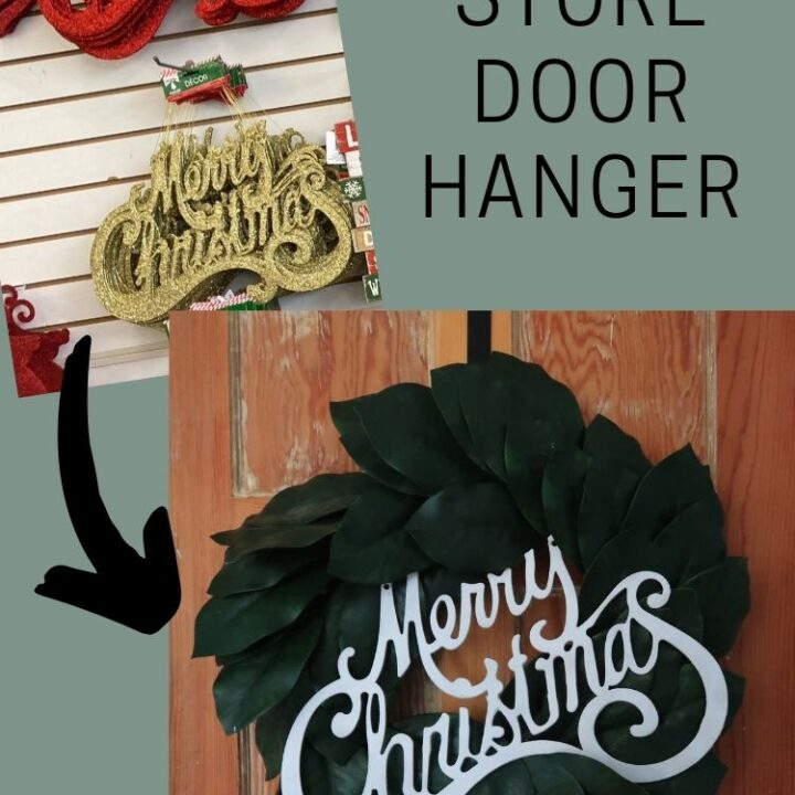 Dollar Store Door Hanger - before and after