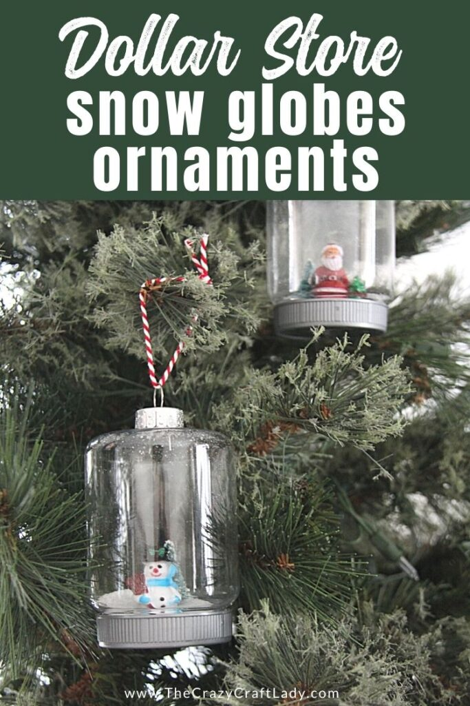 Dollar Store Snow Globe Ornaments