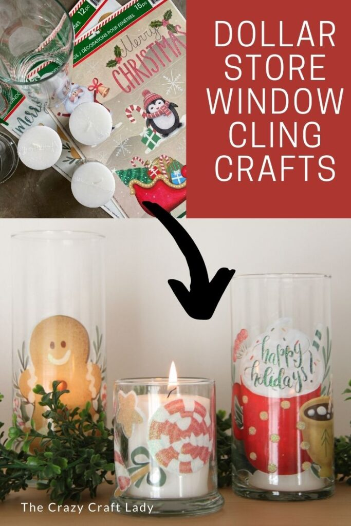 Dollar Store Window Cling Candle Tumblers