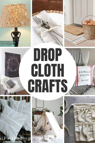 Fabric can be expensive. Save a bundle on your next DIY or craft and try one of these creative drop cloth projects. How to use drop cloth fabric to make some beautiful home decor.