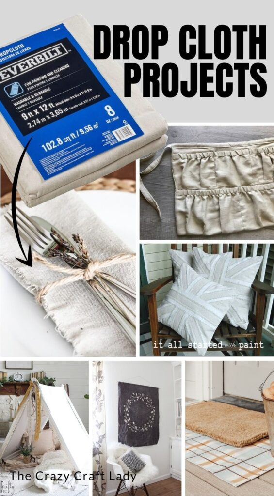 Drop Cloth Projects and DIY Decor