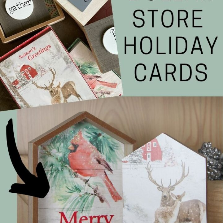 Supplies: Framed Dollar Store Holiday Cards