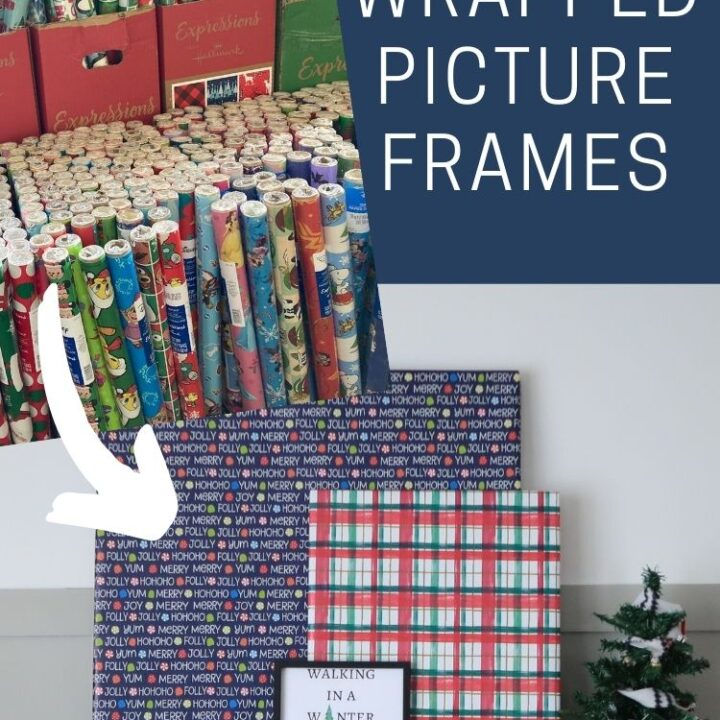 Holiday Decorating: Gift Wrapped Picture Frames